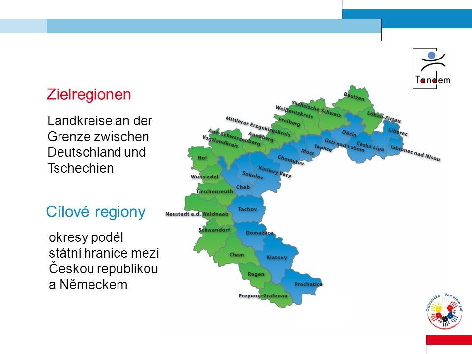 Zielregionen Cílové regiony