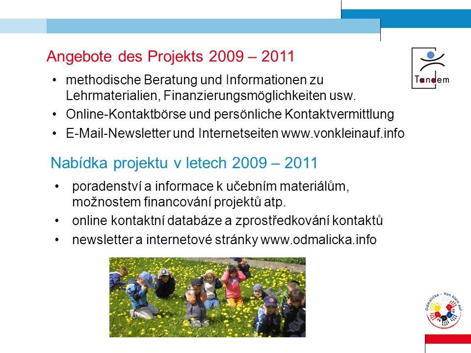 Angebote des Projekts 2009 – 2011