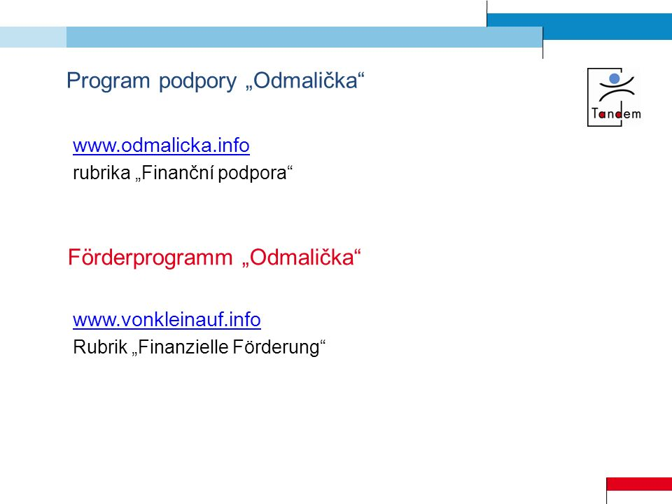 "Program podpory ""Odmalička"