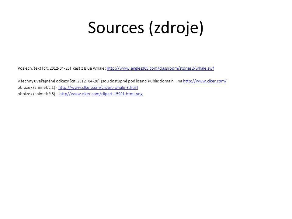 Sources (zdroje)