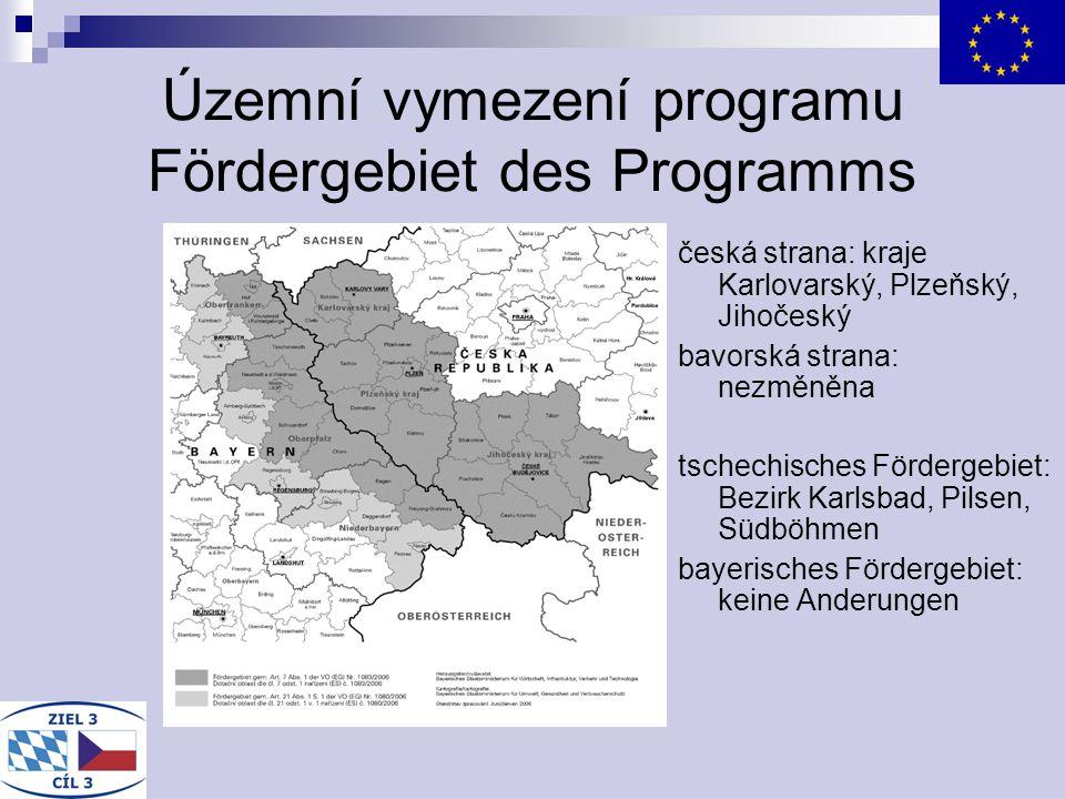 Územní vymezení programu Fördergebiet des Programms