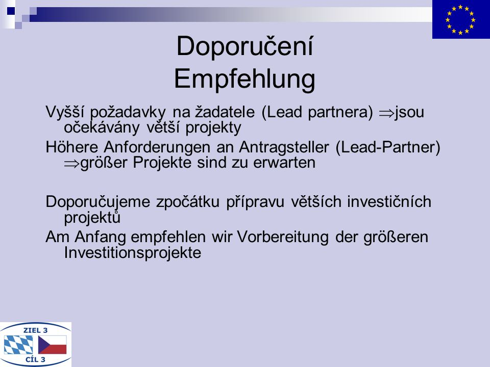 Doporučení Empfehlung