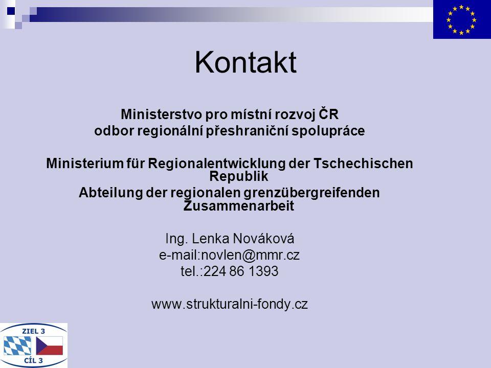 Kontakt Ministerstvo pro místní rozvoj ČR