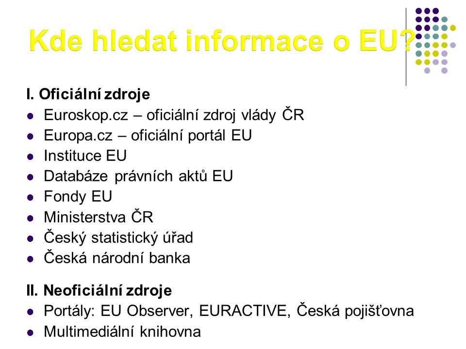 Kde hledat informace o EU