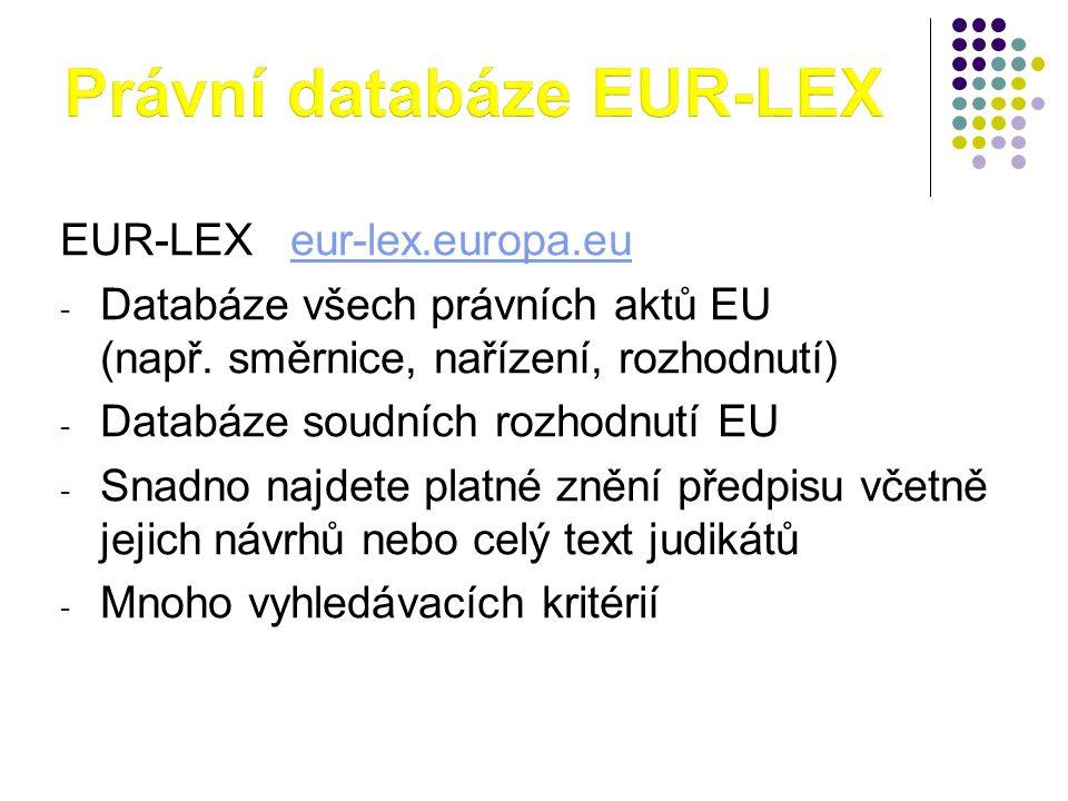 Právní databáze EUR-LEX
