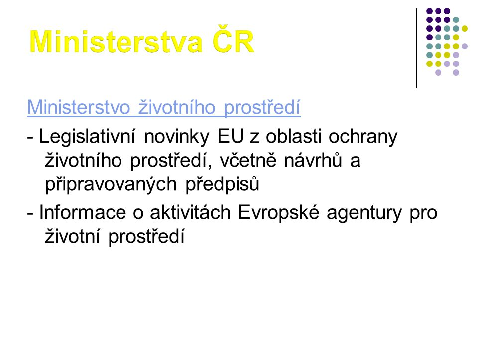 Ministerstva ČR