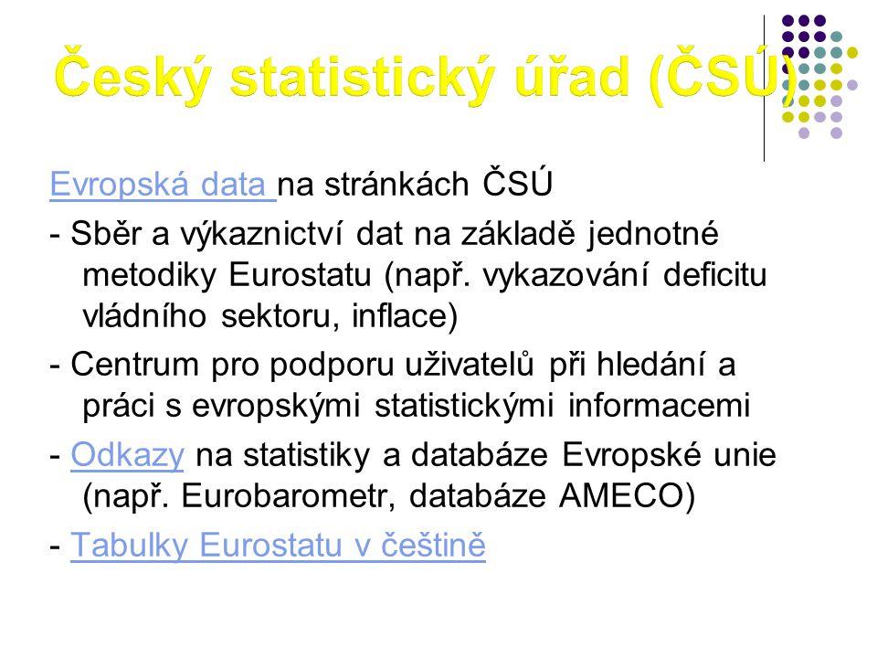 Český statistický úřad (ČSÚ)