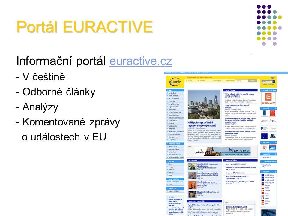 Portál EURACTIVE Informační portál euractive.cz - V češtině