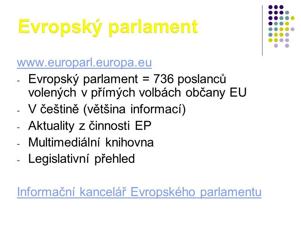 Evropský parlament www.europarl.europa.eu