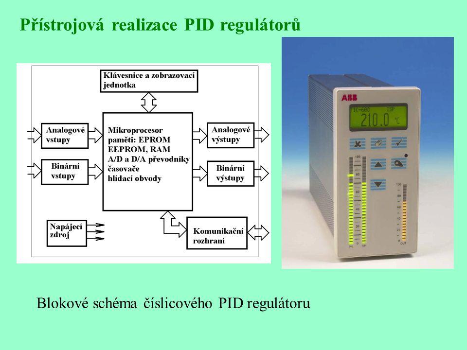 Přístrojová realizace PID regulátorů