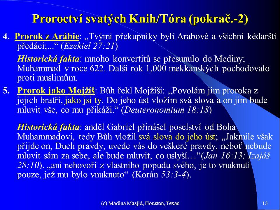 Proroctví svatých Knih/Tóra (pokrač.-2)