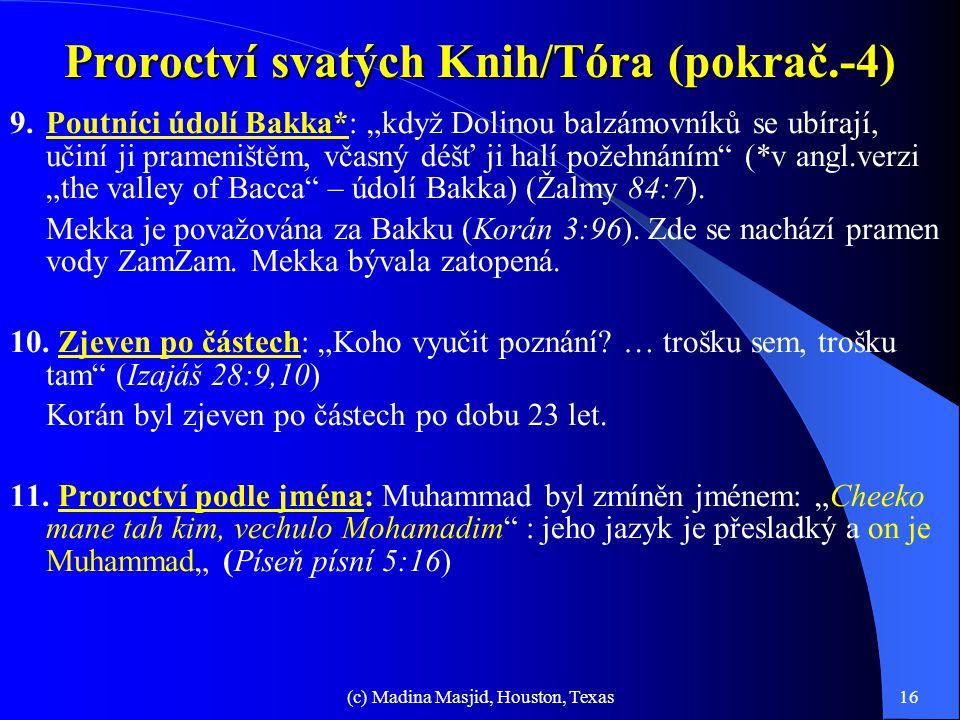 Proroctví svatých Knih/Tóra (pokrač.-4)