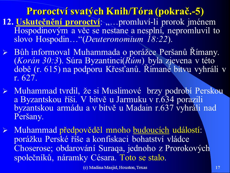 Proroctví svatých Knih/Tóra (pokrač.-5)