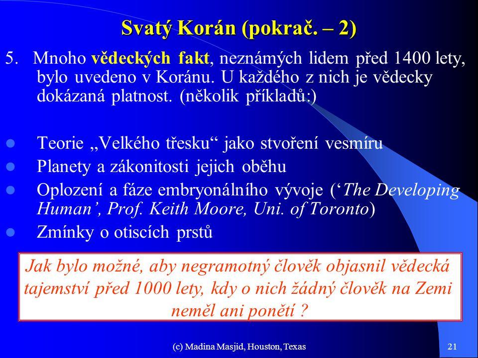 Svatý Korán (pokrač. – 2)