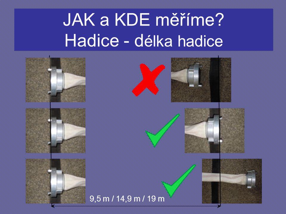 JAK a KDE měříme Hadice - délka hadice