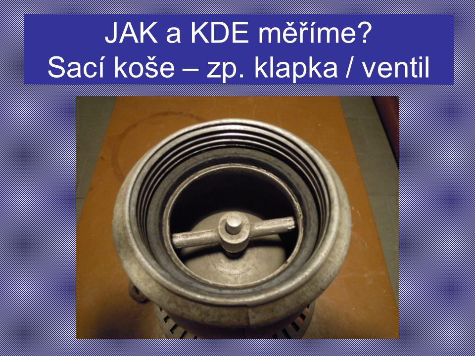 JAK a KDE měříme Sací koše – zp. klapka / ventil