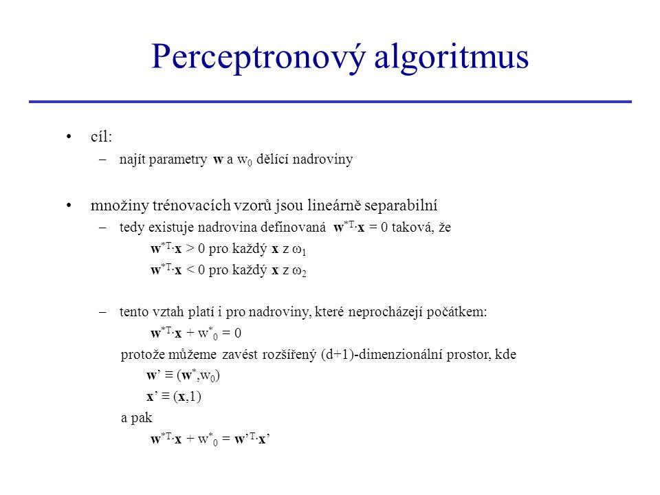 Perceptronový algoritmus