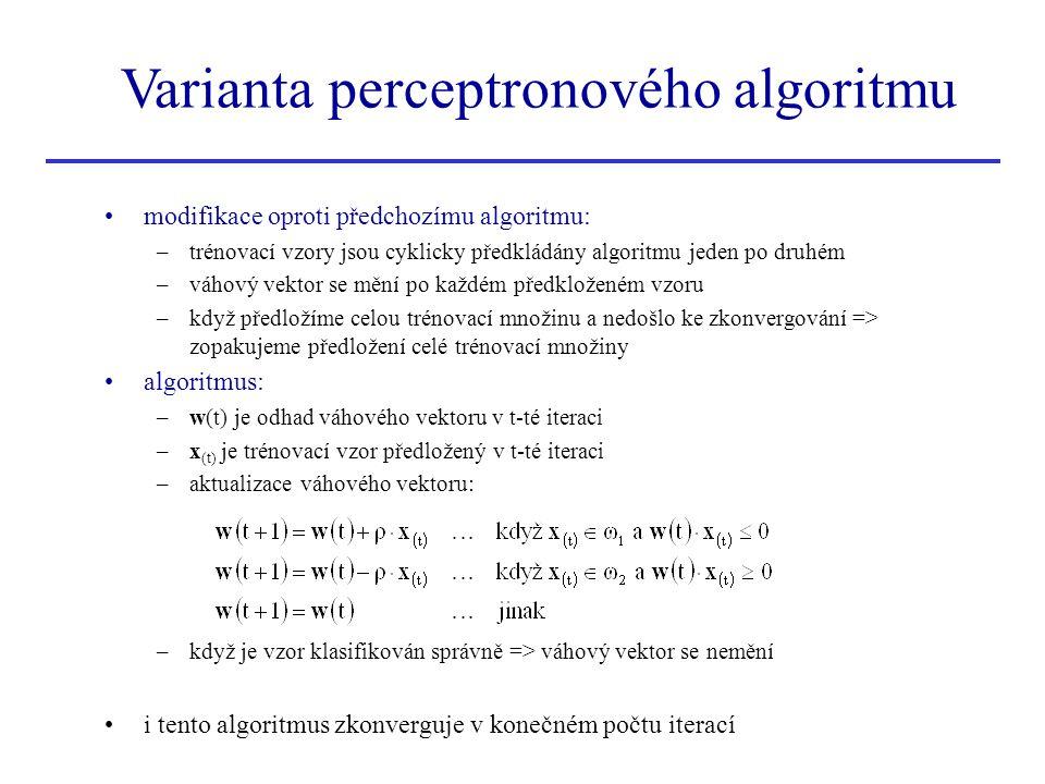 Varianta perceptronového algoritmu