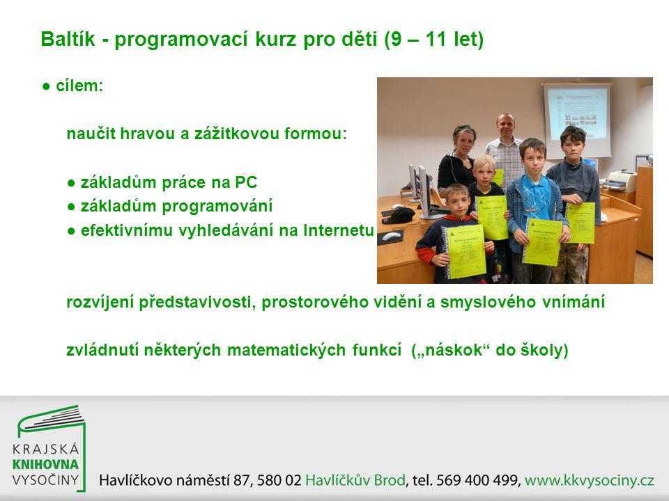 Baltík - programovací kurz pro děti (9 – 11 let)