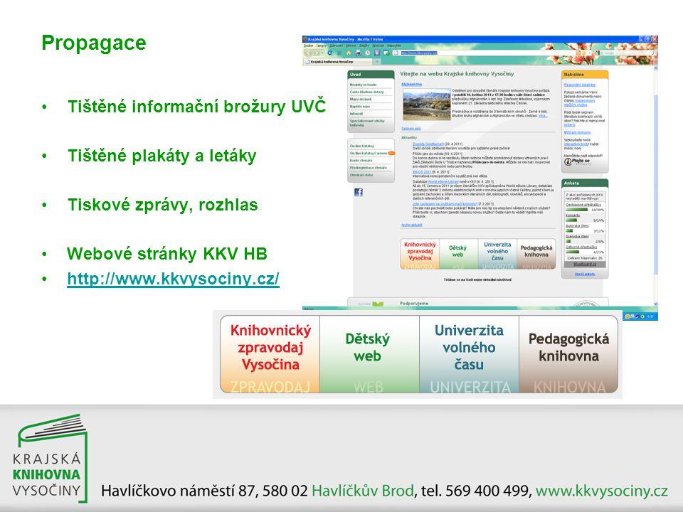 Propagace Tištěné informační brožury UVČ Tištěné plakáty a letáky