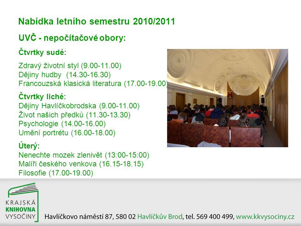 Nabídka letního semestru 2010/2011