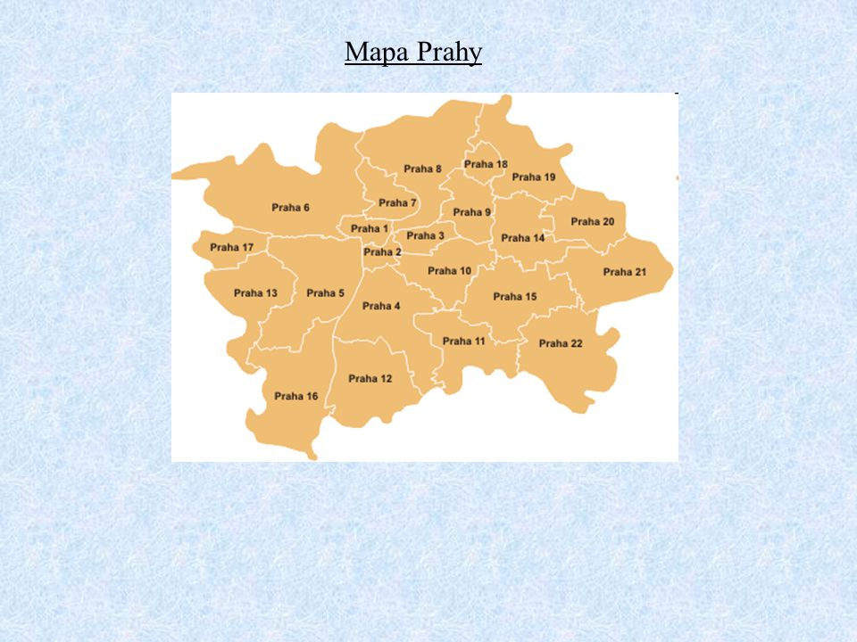 Mapa Prahy