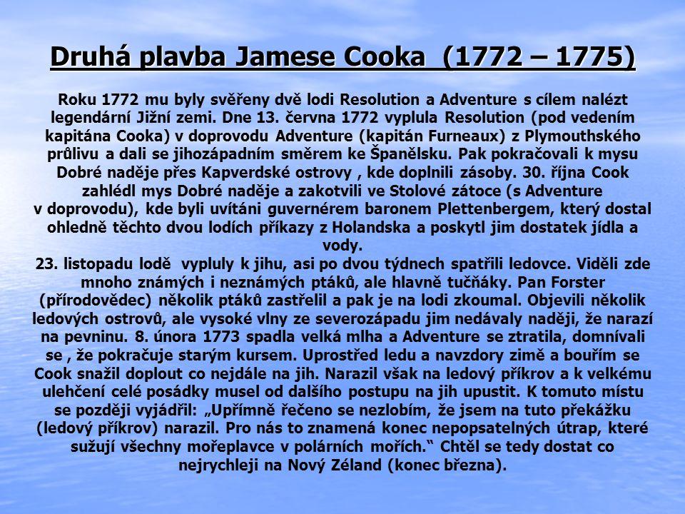Druhá plavba Jamese Cooka (1772 – 1775)