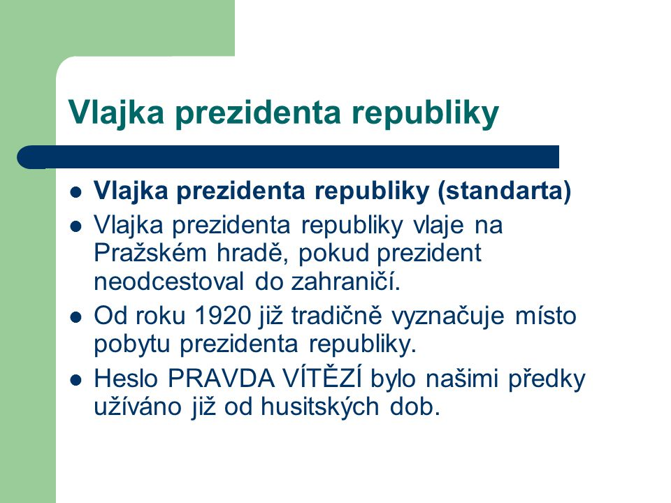 Vlajka prezidenta republiky