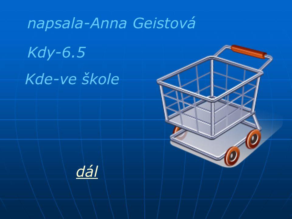 napsala-Anna Geistová