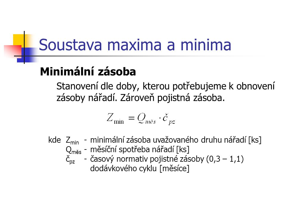 Soustava maxima a minima
