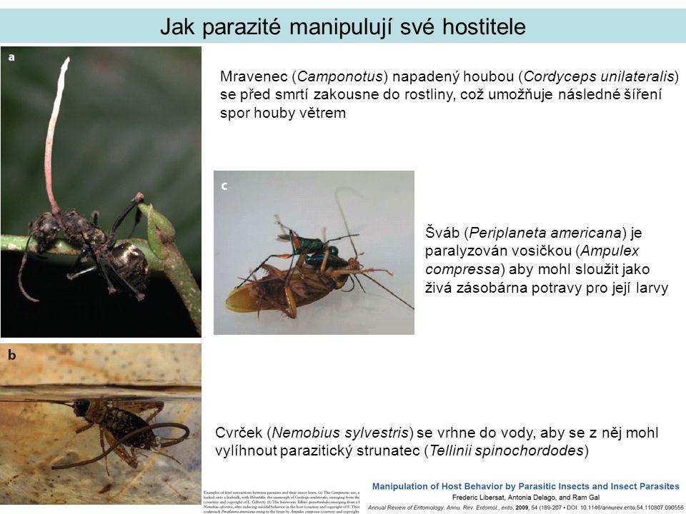 Jak parazité manipulují své hostitele