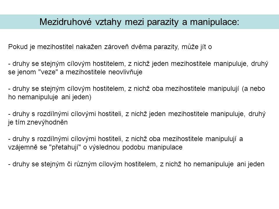 Mezidruhové vztahy mezi parazity a manipulace: