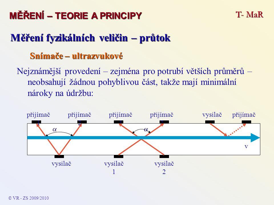 Měření fyzikálních veličin – průtok
