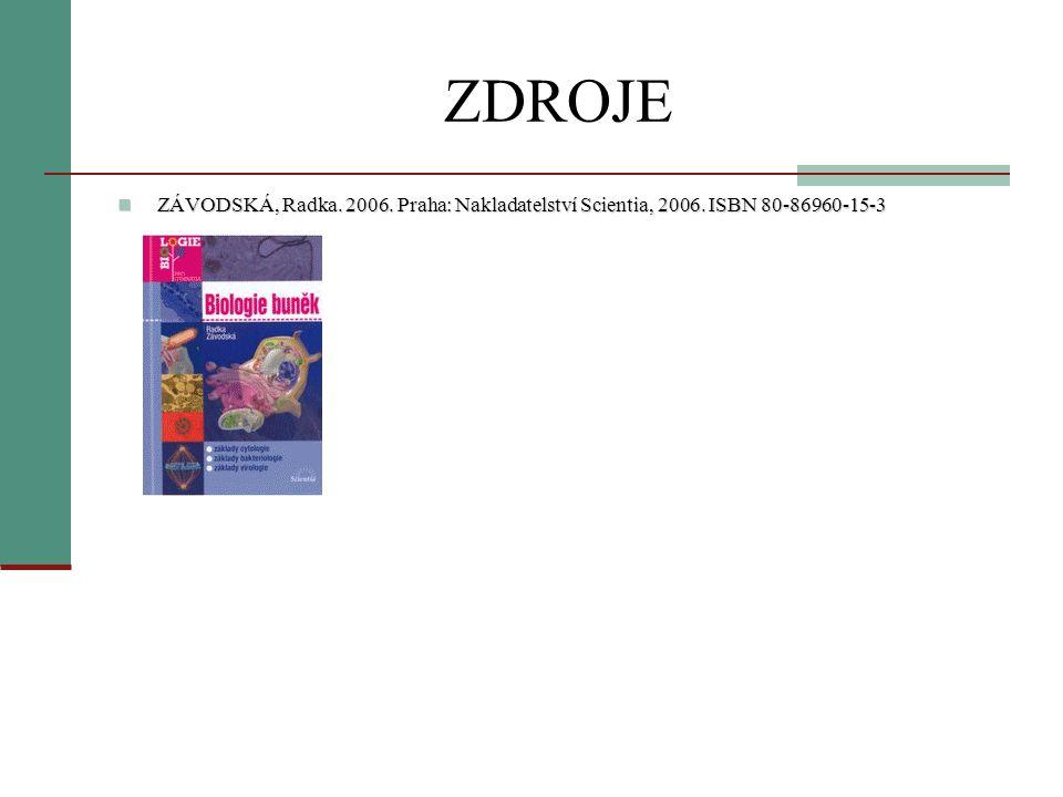 ZDROJE ZÁVODSKÁ, Radka. 2006. Praha: Nakladatelství Scientia, 2006. ISBN 80-86960-15-3