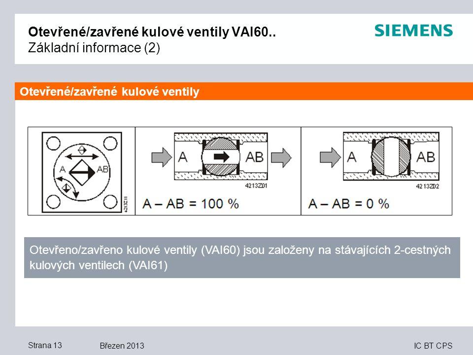 Otevřené/zavřené kulové ventily VAI60.. Základní informace (2)