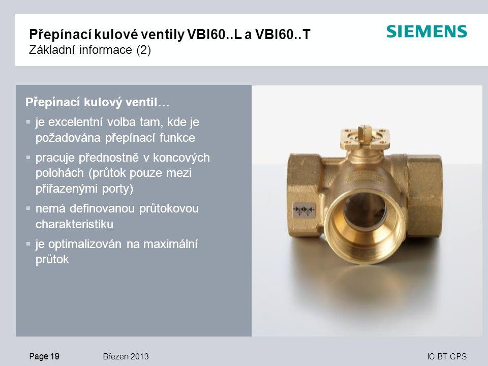 Přepínací kulové ventily VBI60..L a VBI60..T Základní informace (2)