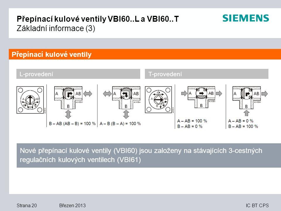 Přepínací kulové ventily VBI60..L a VBI60..T Základní informace (3)