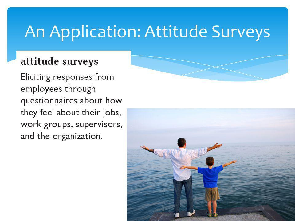 An Application: Attitude Surveys