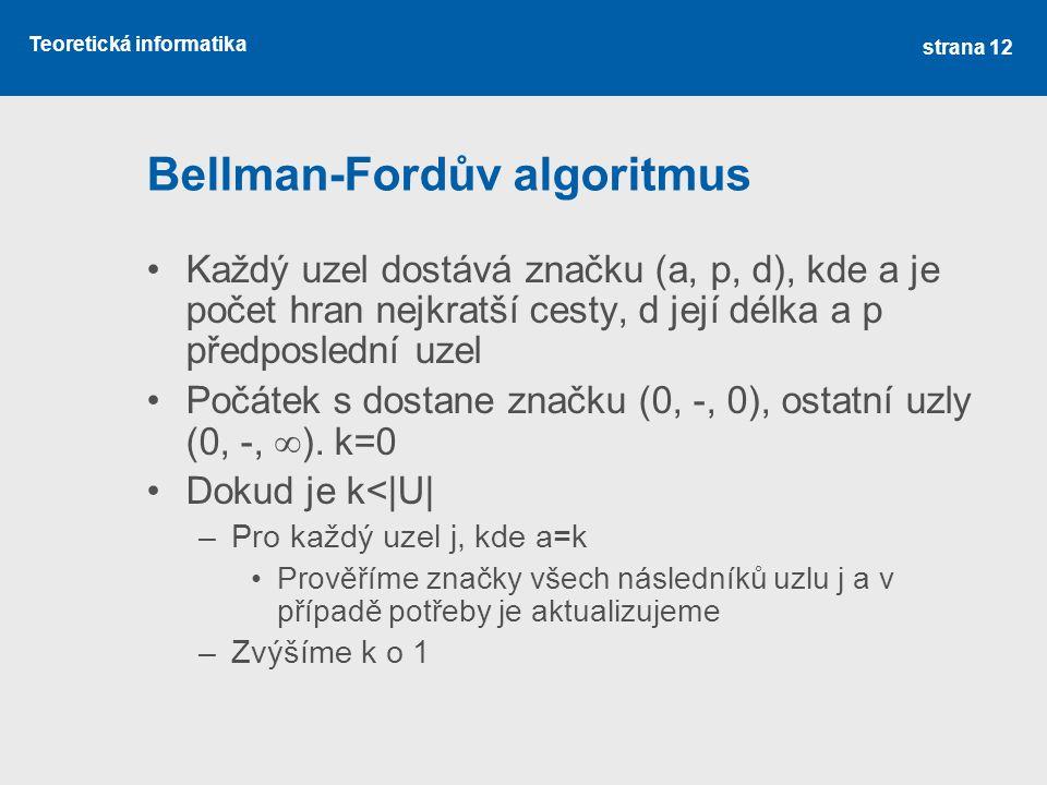 Bellman-Fordův algoritmus