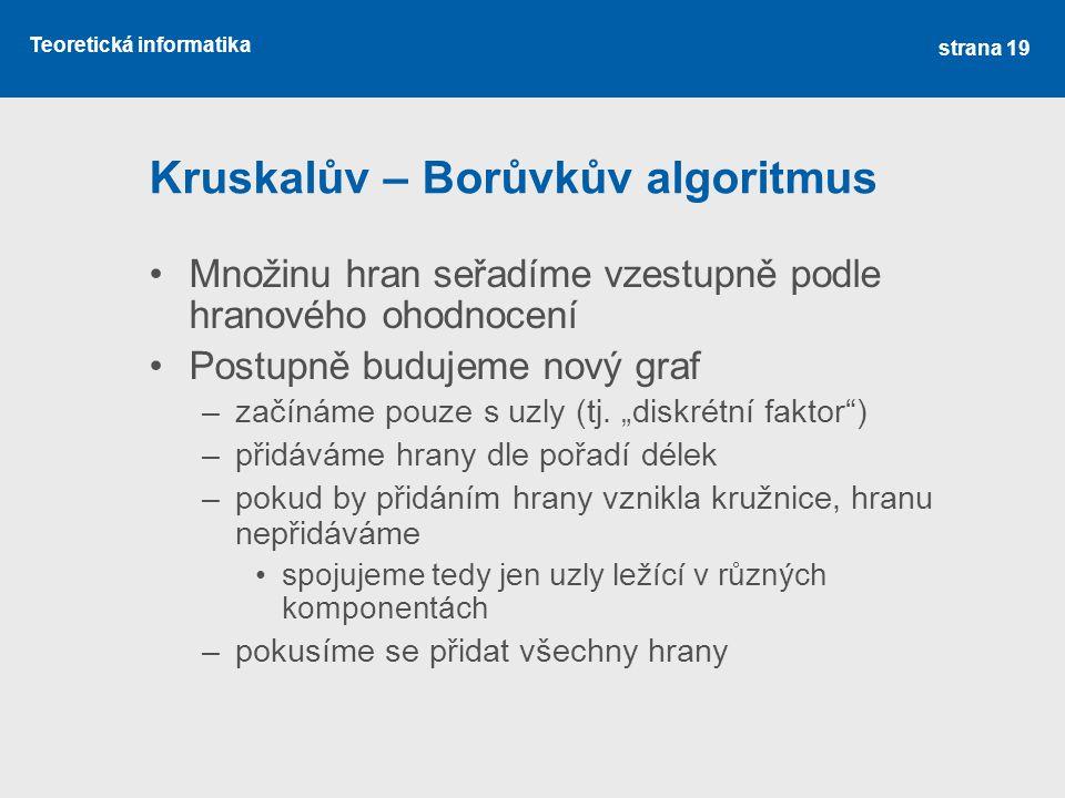 Kruskalův – Borůvkův algoritmus