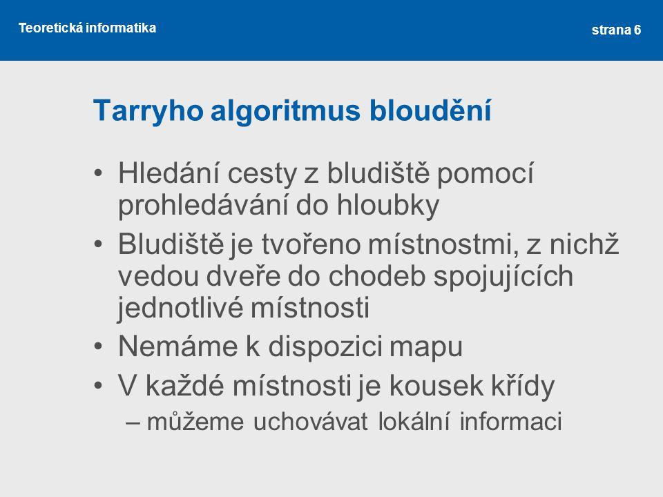 Tarryho algoritmus bloudění