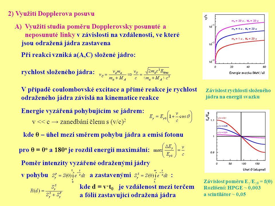 2) Využití Dopplerova posuvu