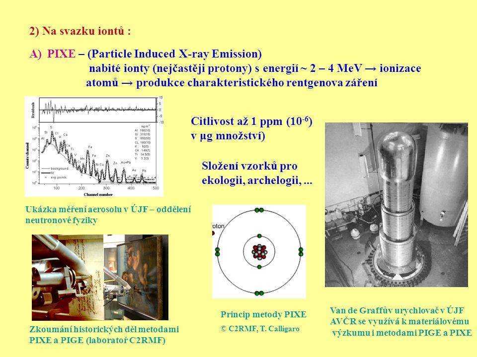 PIXE – (Particle Induced X-ray Emission)