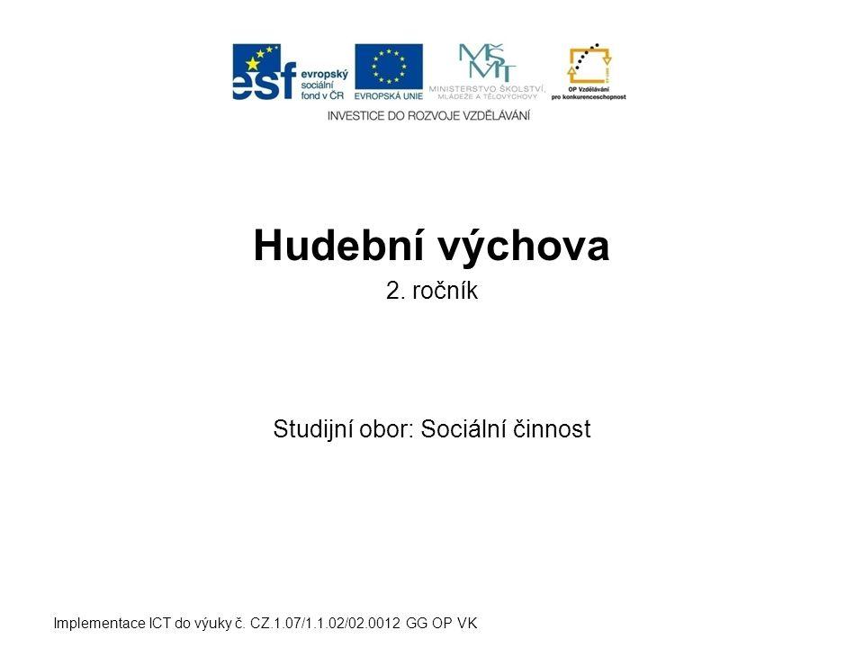 Studijní obor: Sociální činnost