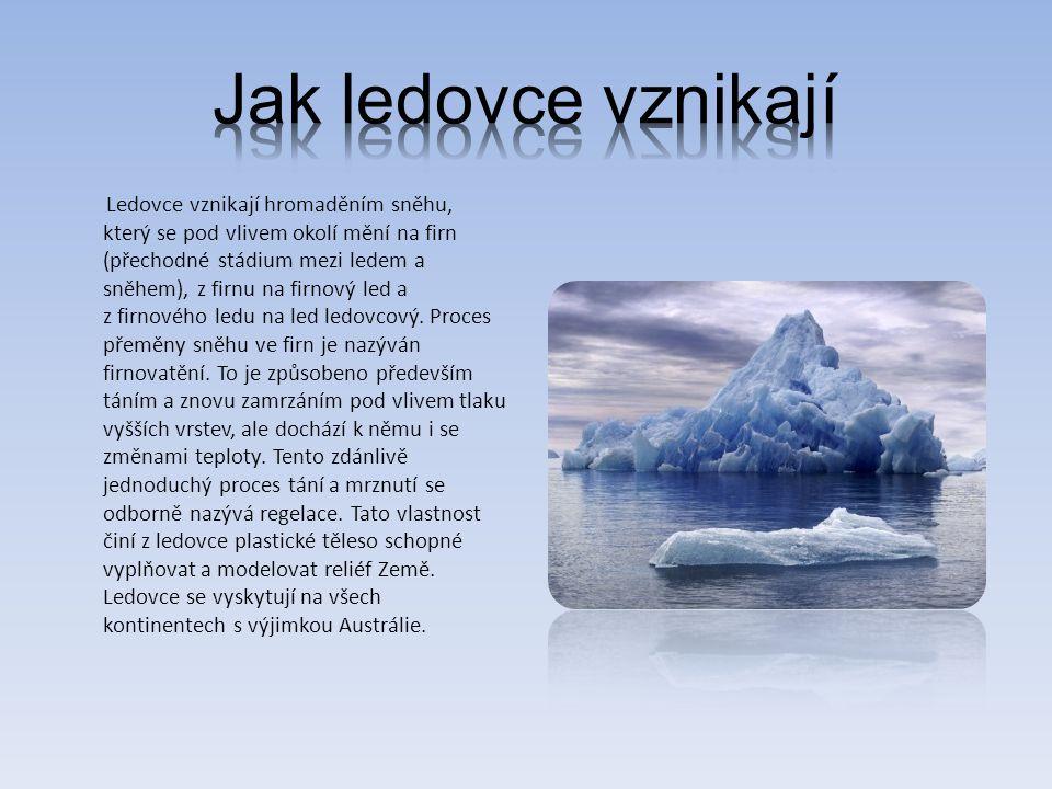 Jak ledovce vznikají