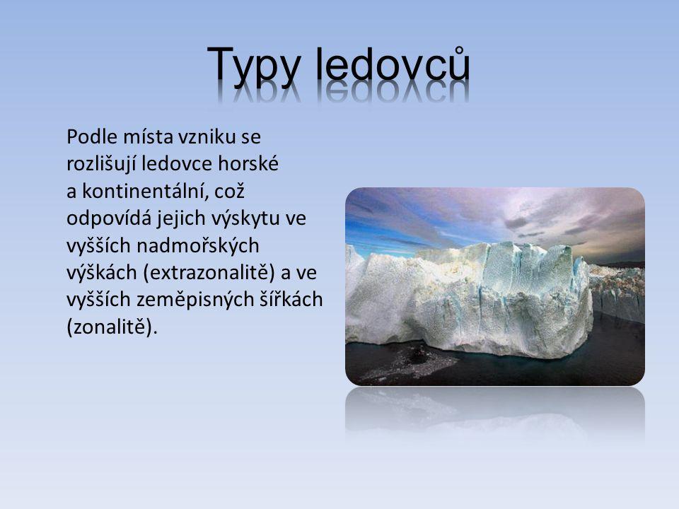 Typy ledovců