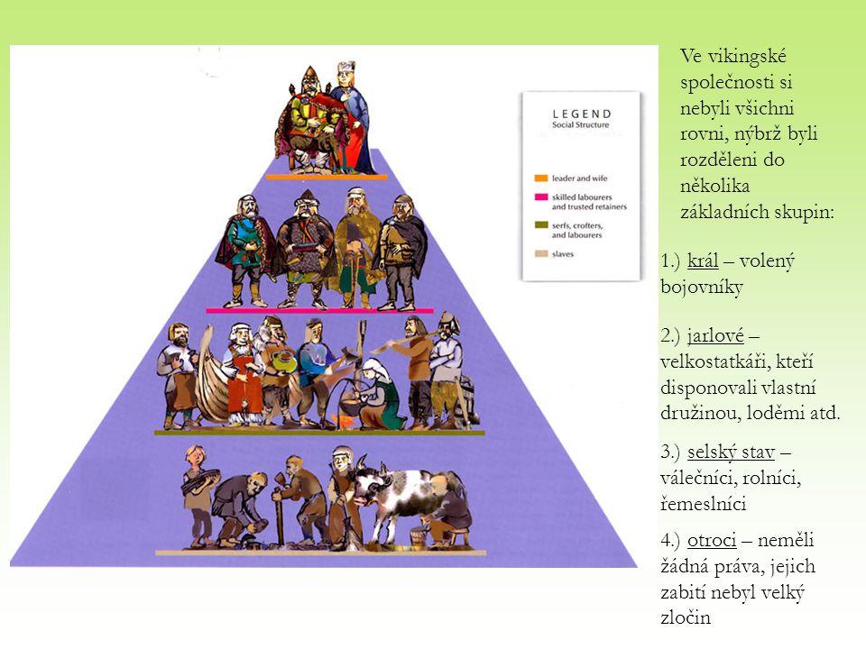 Ve vikingské společnosti si nebyli všichni rovni, nýbrž byli rozděleni do několika základních skupin: