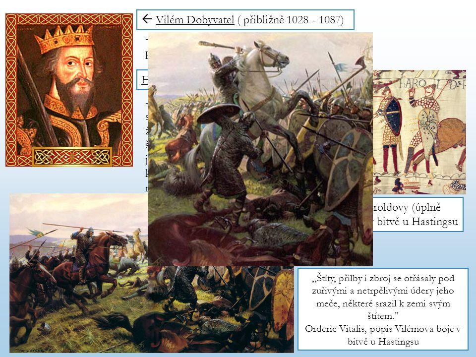 Orderic Vitalis, popis Vilémova boje v bitvě u Hastingsu