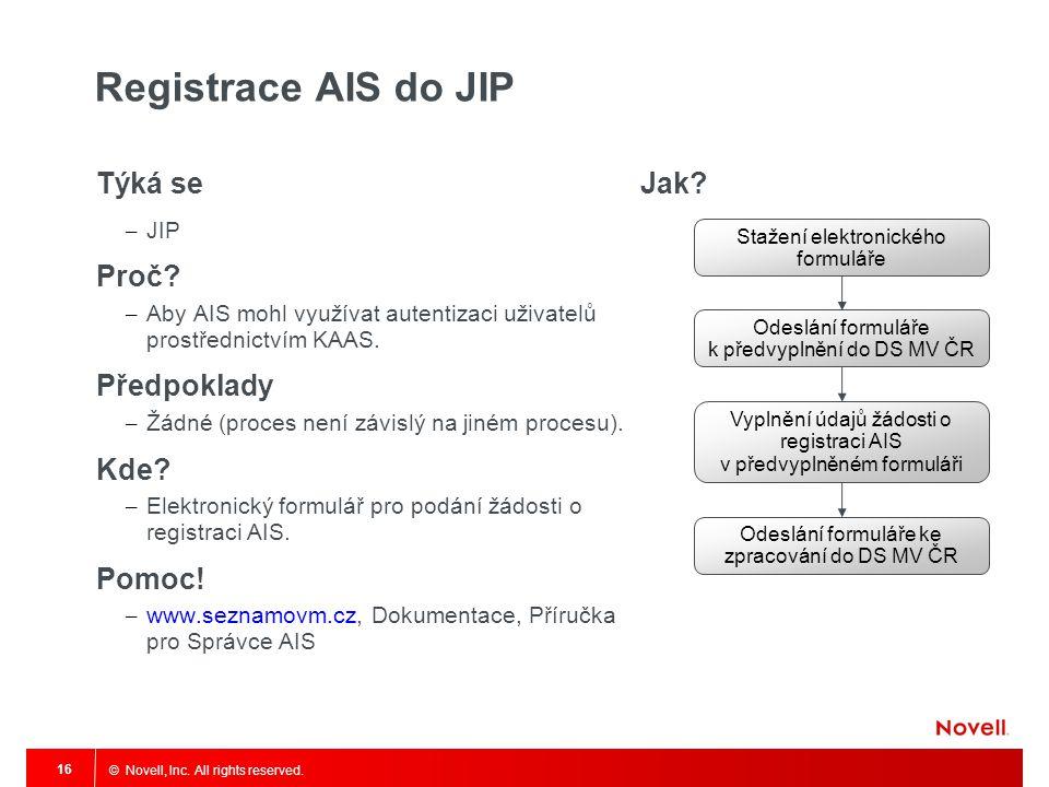 Registrace AIS do JIP Týká se Proč Předpoklady Kde Pomoc! Jak JIP