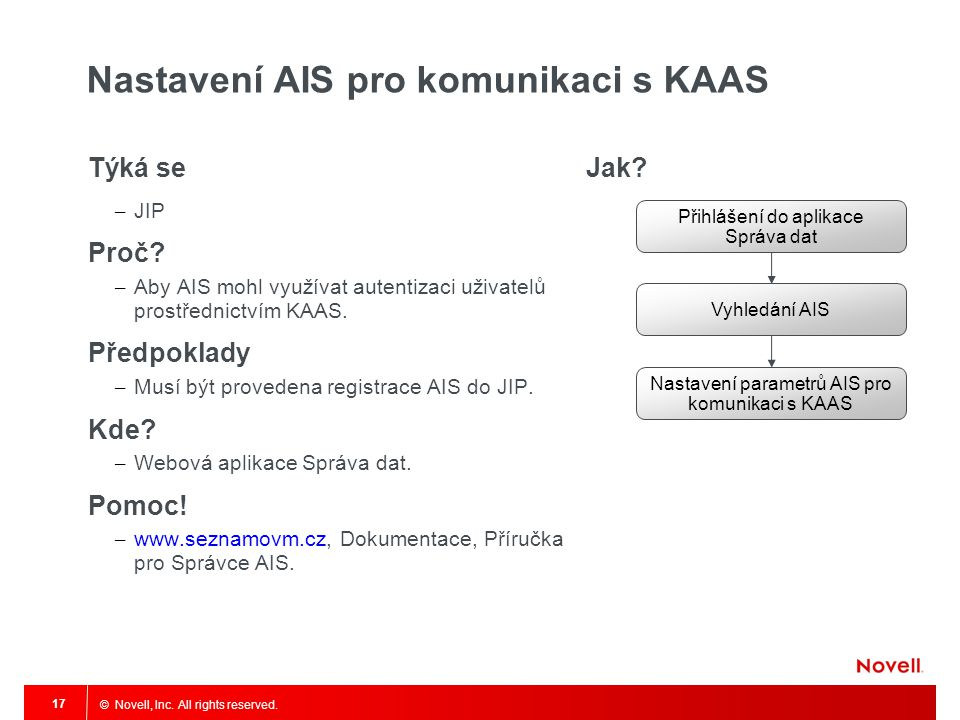 Nastavení AIS pro komunikaci s KAAS